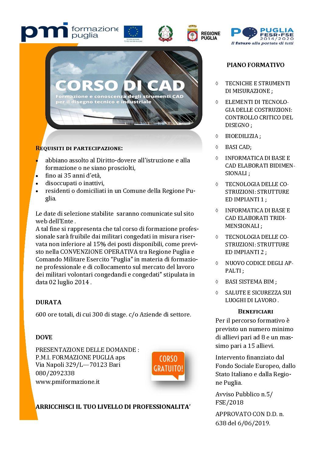 CORSO PER TECNICO CAD